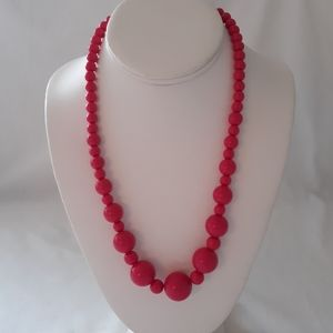 """Chunky Beaded Necklace Chunky Statement Multi 20"""""""